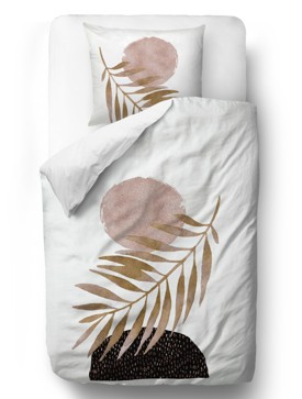 Bedding sets glossy leaf blanket: 135 x 200 cm  pillow: 80 x 80 cm