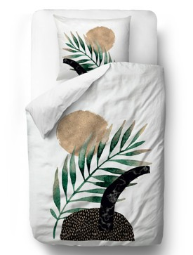 Bedding sets glossy plant blanket: 135 x 200 cm  pillow: 80 x 80 cm