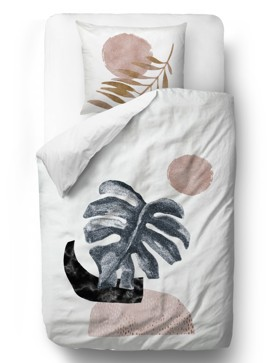 Bedding sets glossy monstera blanket: 140 x 200 cm  pillow: 90 x 70 cm