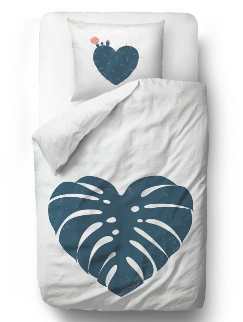 Povlečení heart monstera blanket: 140 x 200 cm pillow: 90 x 70 cm