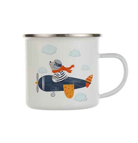 enamel mug best friends - pilot bear
