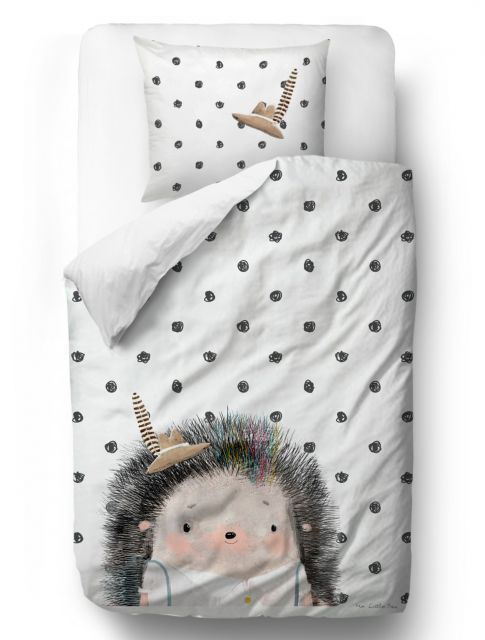 Povlečení Forest School-Hedgehog Boy blanket: 155 x 200 cm pillow: 80 x 80 cm