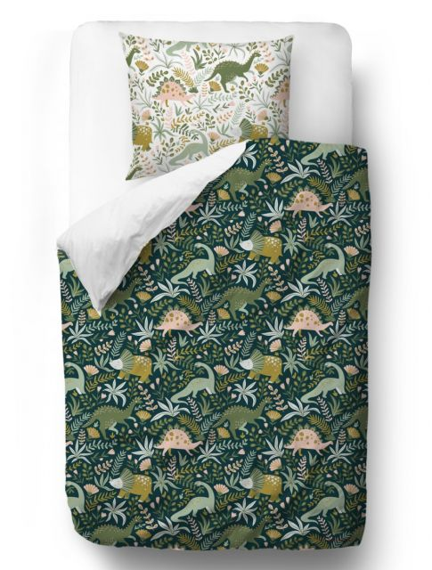 Povlečení Friendly Dinosaurs blanket: 155 x 200 cm pillow: 80 x 80 cm