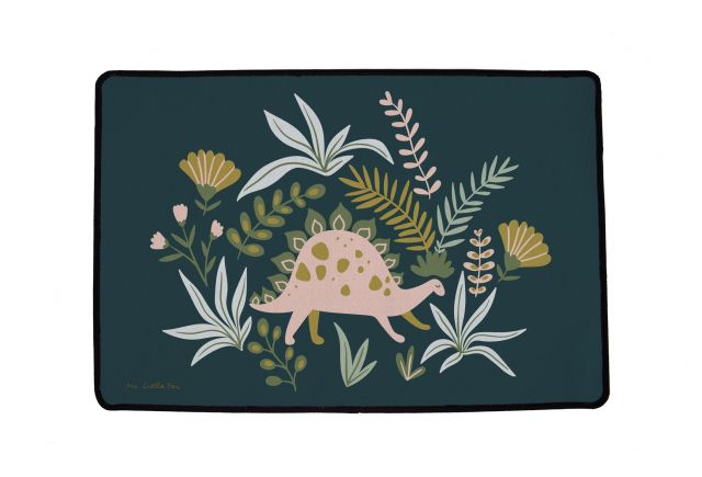 rug multifunctional friendly dinosaurs 90 x 60 cm