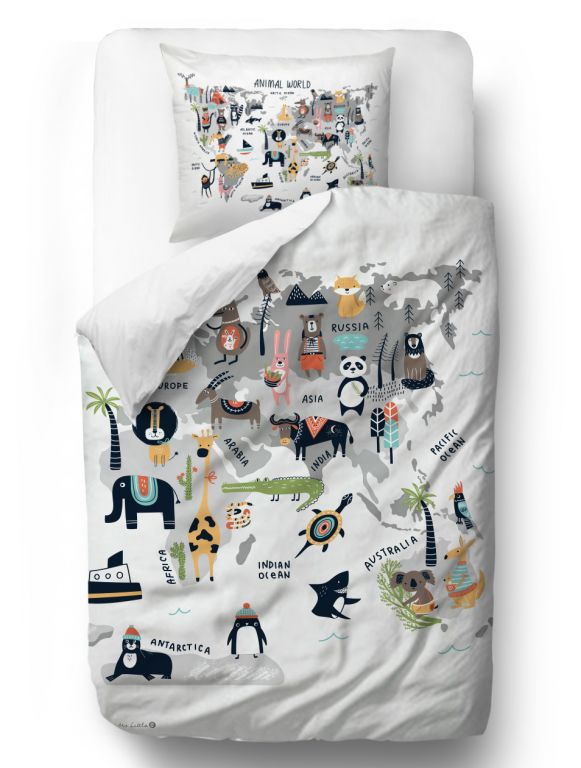 Kids bedding set animal world