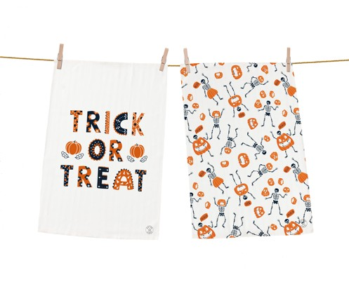 Dish towel sets trick or treat