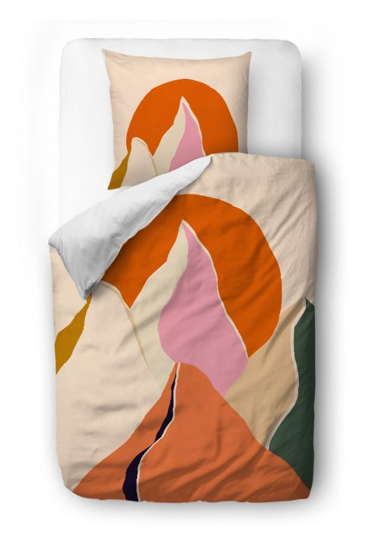 Bedding sest  sunset in the mountains blanket: 140 x 200 cm  pillow: 90 x 70 cm