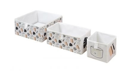 storage boxes set of 3 hygge moment