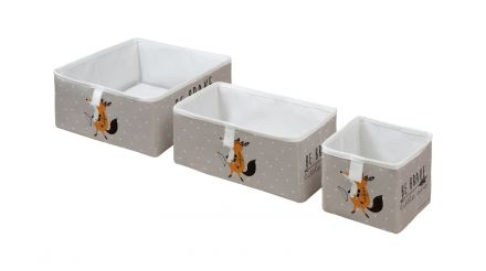 storage boxes set of 3 be brave