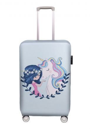 luggage cover girl and unicorn