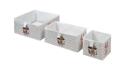storage boxes set of 3 indian raccoon
