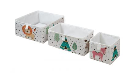 storage boxes set of 3 indians babies