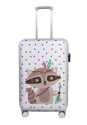 luggage cover indian raccoon
