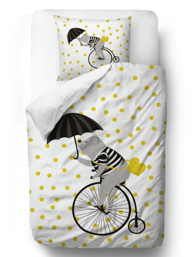 bedding set cycling in the sky
