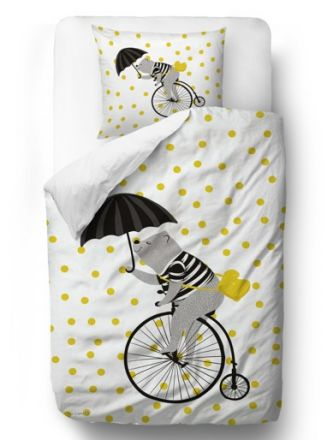 bedding set cycling in the sky blanket: 135 x 200 cm pillow: 60 x 50 cm