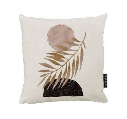 cushion canvas glossy monstera