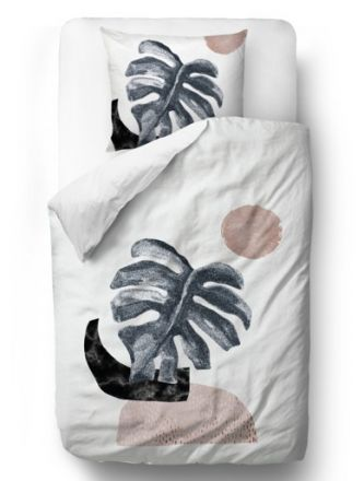 Povlečení glossy monstera blanket: 200 x 200 cm  2x pillow: 60 x 50 cm